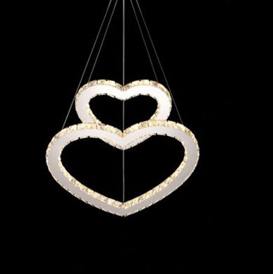 Modern lamparas de techo colgante led Pendant Light Lustre Crystal Pendant Light LED Heart Pendant Light