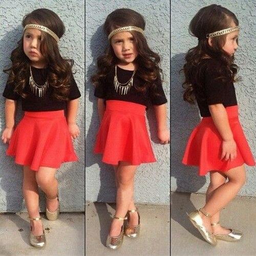 2016 Kids Set Summer Wear Black Short Sleeve T Shirts Red High ...