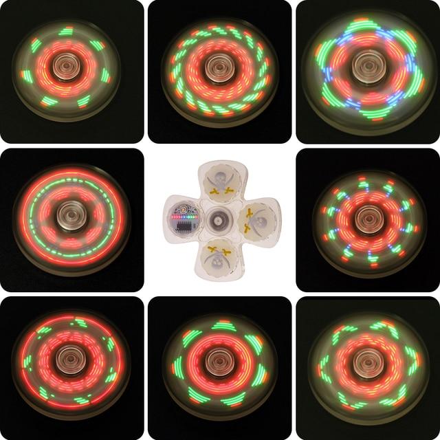 LED Непоседа счетчик ВДГ световой рук Spinner Для аутизма и СДВГ декомпрессии палец spiner игрушки