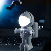 Spaceman luminaria Flexible  Astronaut Computer Laptop USB Port Night Light светильник