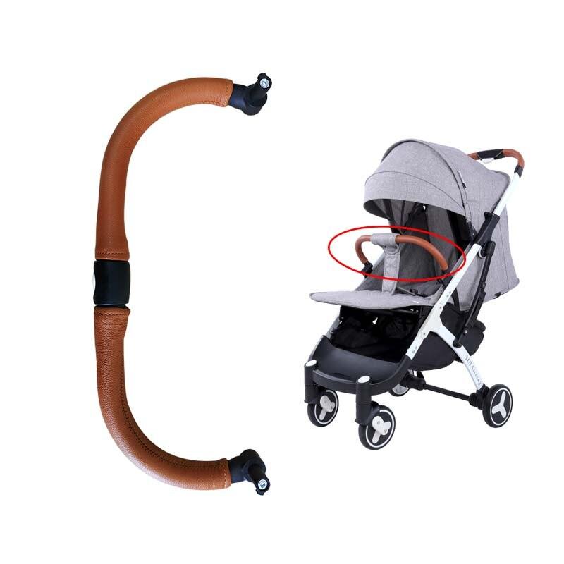 Baby Stroller Armrest  Stroller  Accessory Baby Carriage Bumper Bar Leather Handrail For Yoya Plus 2/3/4 Babalo Babygrace ,etc