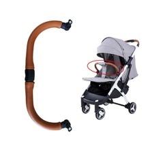 Baby stroller armrest  Stroller  accessory Baby carriage Bumper bar Leather handrail For Yoya plus 2/3/4 Babalo Babygrace ,etc цена