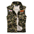 DIMUSI Men Denim Vest Vintage Sleeveless Washed Jeans Army Military waistcoat Man Cowboy Camouflage Jacket Plus Size 4XL,YA215