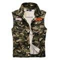 Dimusi hombres chaleco denim vintage sin mangas washed jeans chaleco de hombre de vaquero chaqueta de camuflaje militar del ejército más tamaño 4xl, ya215