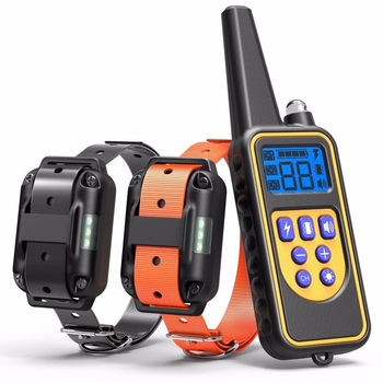 Dog Training Collar Electric Remote Pet Control Waterproof Rechargeable LCD Display Pet Collar All Size Shock Vibration Sound