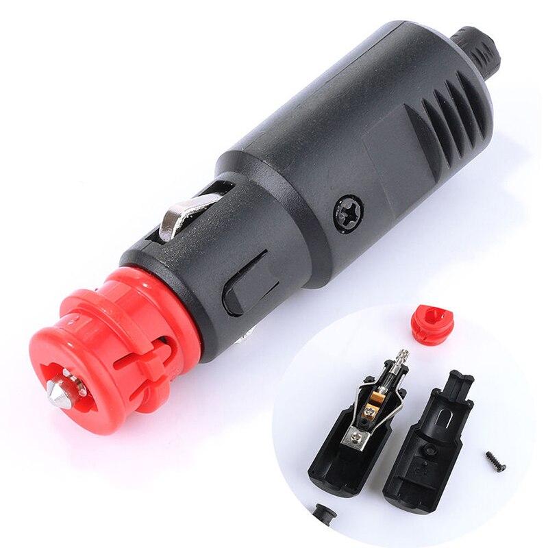 8A Fuse 12V 24V Car Vehicle Cigarette Lighter Adaptor Male Car Cigar Lighter Socket Plug Connector Cigarette Lighter Jack 2.1cm