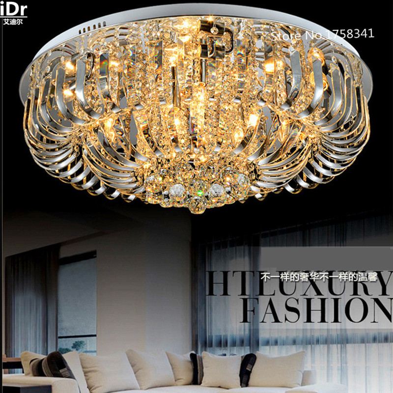 Europe Round LED crystal ceiling lights living room minimalist living room lamp bedroom lighting fixtures restaurant light