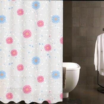 ใหม่ผ้าPEVAกันน้ำข้นดอกไม้ม่านอาบน้ำผ้าม่านผ้าม่านห้องน้ำเคลือบกันน้ำผ้าม่าน