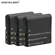 3pcs NP-40 NP40 Rechargeable Li-ion Camera Battery For CASIO CNP-40 CNP40 For Casio Exilim Zoom EX-Z Pro EX Series