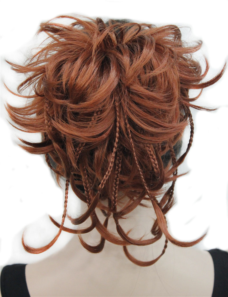 StrongBeauty Synthetic DIY Hair Red Blonde Brown Black Braid Drawstring Ponytail Clip In/on Hair Extensions Hairpieces 17Colors