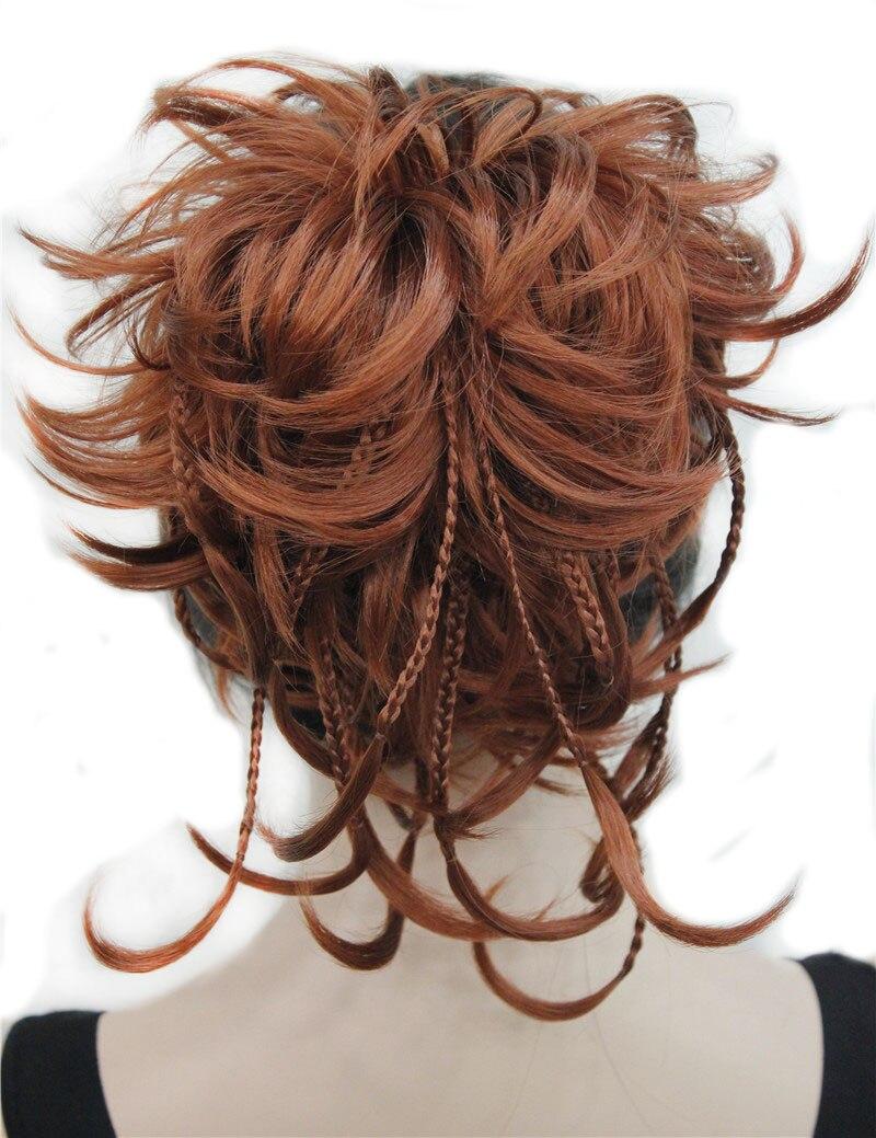 StrongBeauty Synthetische DIY Haar Rot Blonde Braun Schwarz Braid Kordelzug Pferdeschwanz Clip in/auf Haarverlängerungen Haarteile 17 Farben
