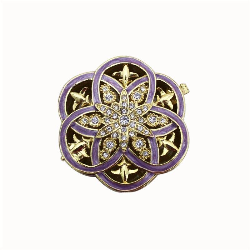 YAFFIL Jewelry Box Hot Sell High-Grade Jewelry Box Flower Crystal Rhinestone Jewelry Boxes Jewel Case For Gift 2018 New Festival jewel box