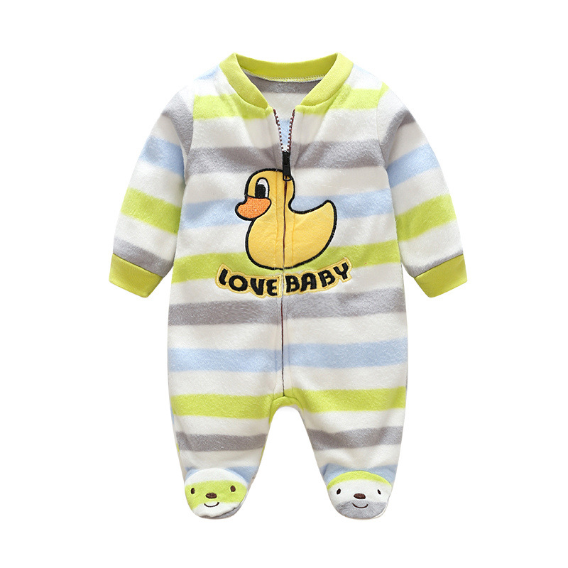 Christmas Baby Rompers Cartoon polar fleece baby clothes Winter Girls Boys Warm Animal Foots Overalls Newborn Infant Jumpsuit baby winter warm velvet overalls 6m 4years jeans overalls infant long pants baby toddler girls boys jumpsuit rompers 1850