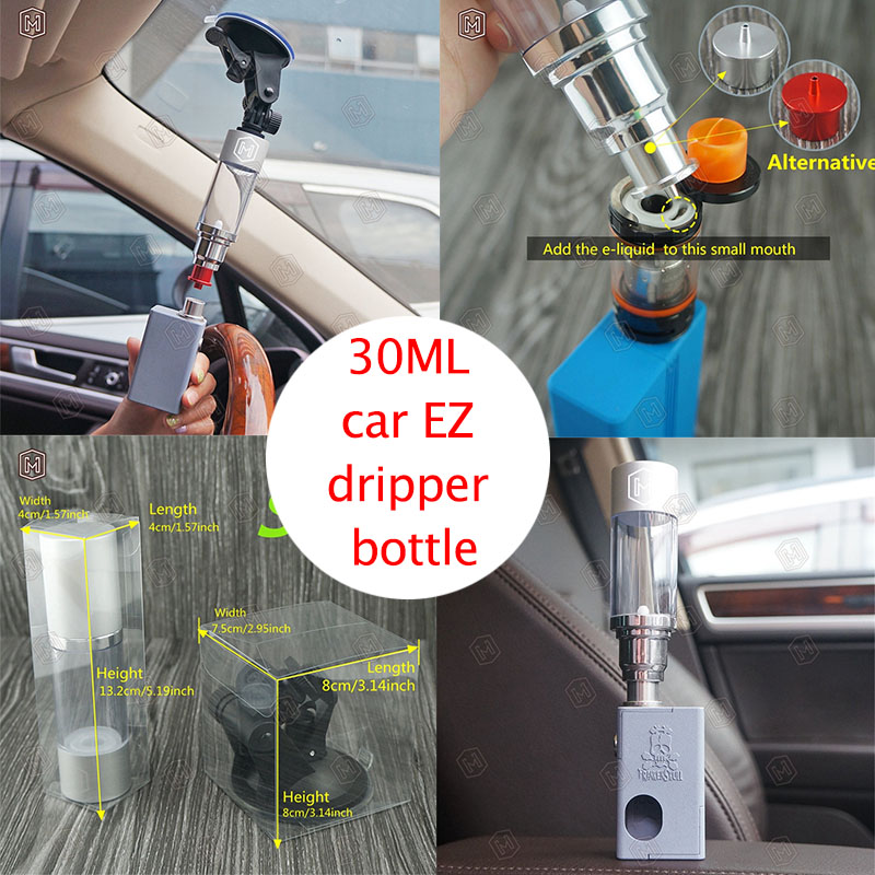 free DHL 50sets 30ml plastic Bottle and base Electronic cigarette oil bottle better EZ dripper Acrylic