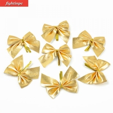 12pcs Bow Christmas Tree Decoration Xmas Ornament Bowknot Party Home Birthday Wedding Decor
