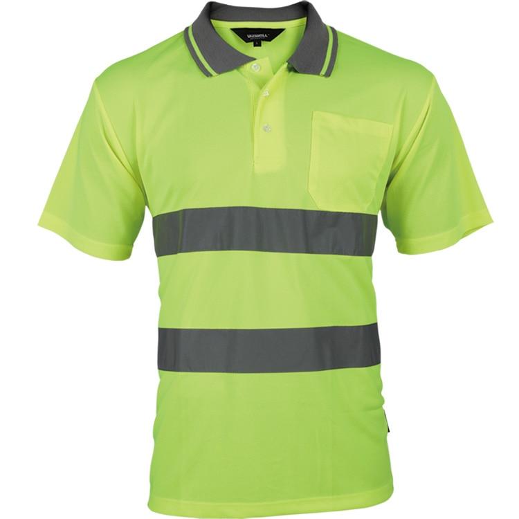 MEN/'S POLO SHIRT 2 toni Hi Vis Visibilità Manica Corta sicurezza work-wear Camicia