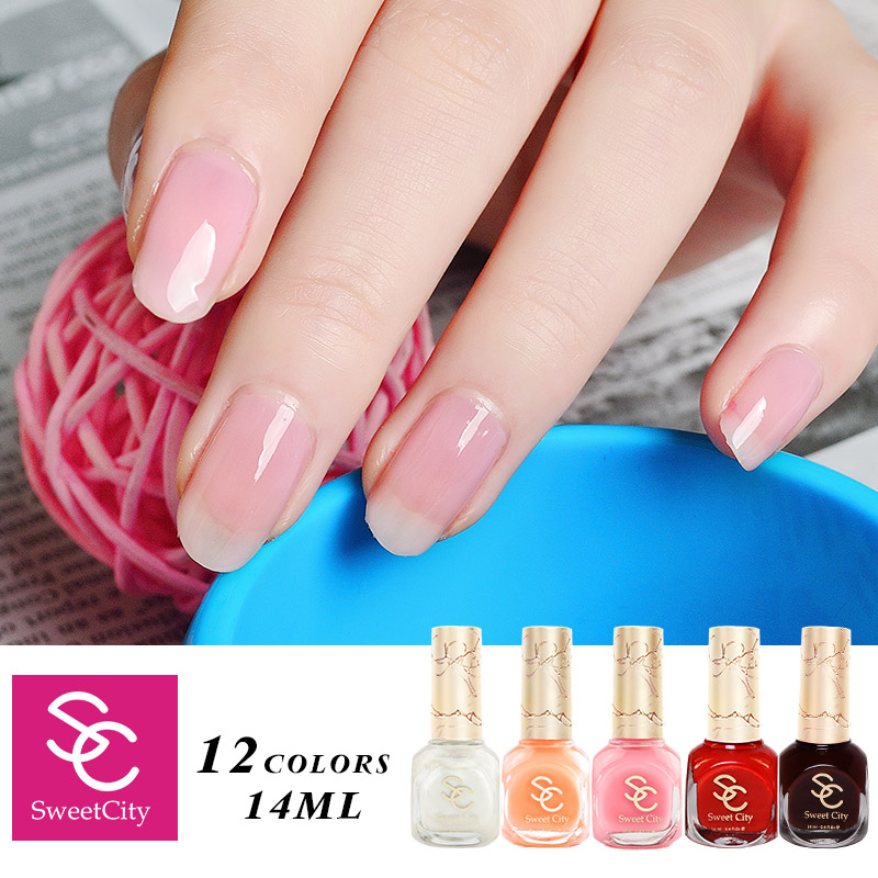 Candy Color Nail Polish: SweetCity High Quality Nail Polish Nude Candy Color Long