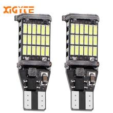 2Pcs T15 W16W LED Reverse Light Bulbs 920 921 912 Canbus 4014 45SMD Highlight LED Backup Parking Light Lamp Bulbs DC12V цена