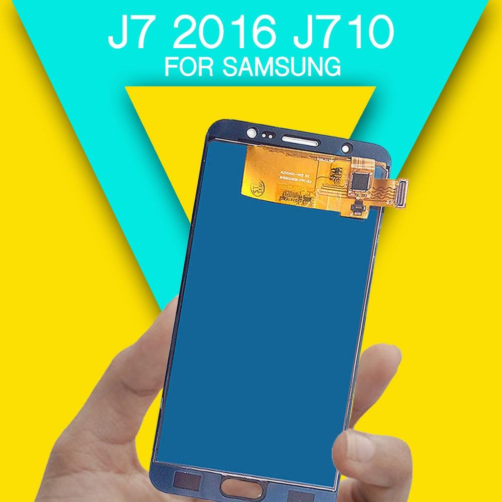 Replacements LCD screen j7 2016 display screen for repairing LCD screen digitizer assembly J710 J710F J710M