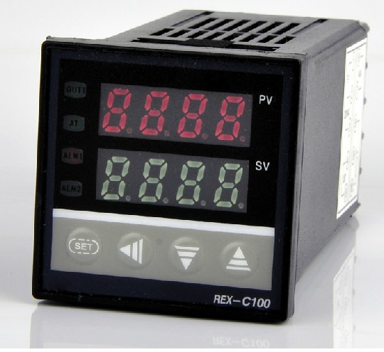 Dual Digital RKC PID Temperature Controller REX-C100, Relay Output  meter SSR device set of pid digital temperature thermostat regulator controller rex c100 with ssr output thermocouple k solid state relay ssr 40a