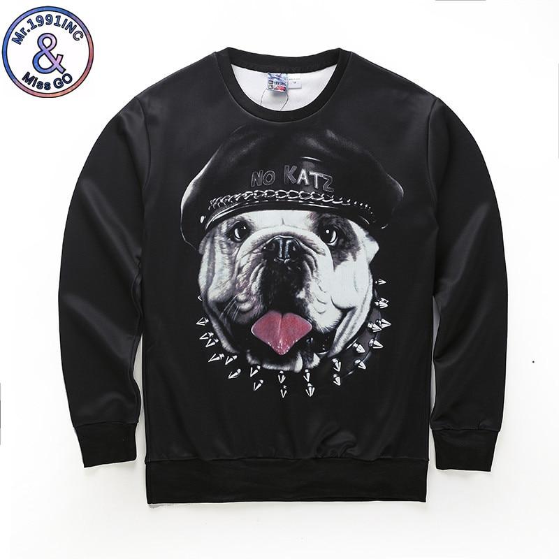 Harajuku Autumn Men 3D Novelty Sweatshirts Funny Print Dog Elephant 3D Hoodies Men Sweat Shirts Pullover Hoodie Men Clothes
