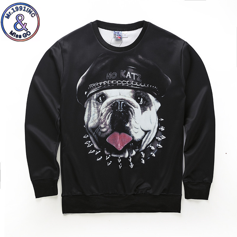 Harajuku Autumn Men 3D Novelty Sweatshirts Funny Print Dog Elephant 3D Hoodies Men Sweat Shirts Pullover Hoodie Men Clothes