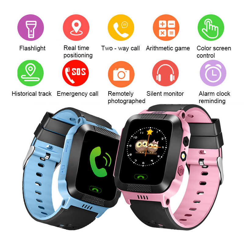 Children Smart Watch For Kids Safe Camera SIM Call Baby LBS SOS Wristwatch Alarm Clock Waterproof Child Gift For GPS