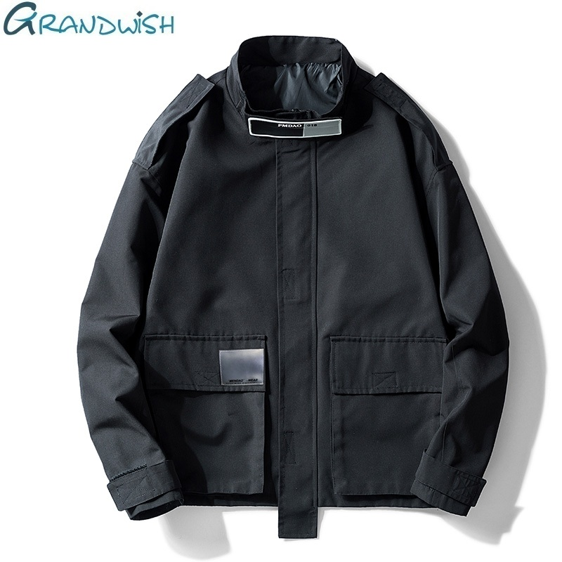 Men's Clothing Jacket Male Loose Hooded Solid Casual Spring Jacket Costs College Windbreaker Male Hip-hop Overalls Jacket,ZA180