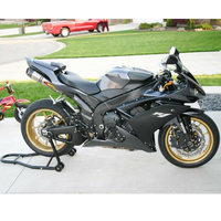 YZFR1 Matte Black w/ Grey Complete Injection Fairing Kit for 2007 2008 Yamaha R1 Yzf R1 YZF R1