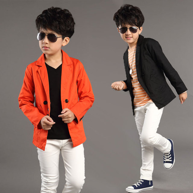 774a6c176 Kids Blazers Jackets 2018 New England Spring Boy Jackets Solid Boys ...