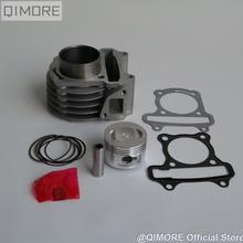50 мм большой диаметр влево/вправо комплект/цилиндр комплект поршневых колец для 4 тактный скутер мопед 139QMB 147QMD GY6 50 60 80 cm3 повышен до 100 cm3