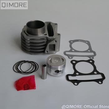 50mm duża pojemność zestaw pierścień tłokowy cylindra zestaw dla 4 suwowy skuter 139QMB 147QMD GY6 50 60 80 cm3 aktualizacji (50mm dole!!) tanie i dobre opinie QIMORE Aluminum Alloy Silniki 100CC 1 cylinder GY6-100 China Brand New