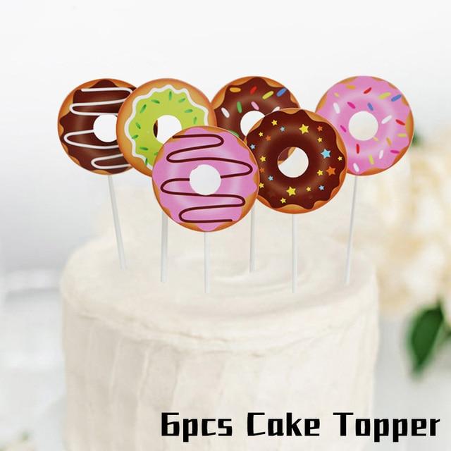 6pcs Cake Topper Monkey 1st birthday decorations 5c64f9ae5e23e