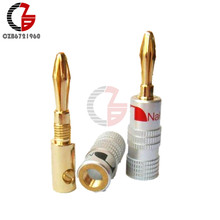 24 K Vergulde Voor Nakamichi Speaker Banana Plug Zuiver Koper Audio Jack Sound Connector Tussenliggende Audio Connector(China)