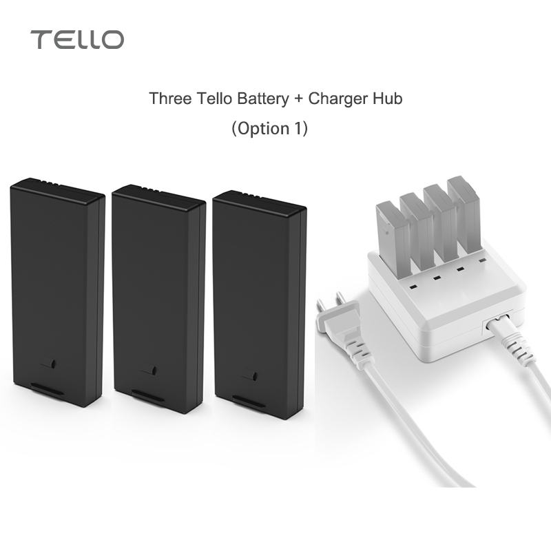 DJI Tello Drone Battery / Charger Hub for 4 in 1 Intelligent Battery Fast Charging for Original DJI Tello Drone Accessories tello battery charging hub designed for use with tello flight batteries accommodate up to 3 tello batteries at the same time
