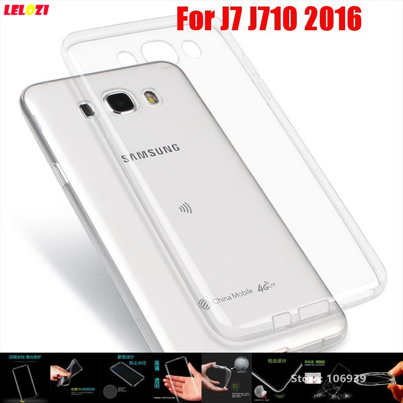 LELOZI Best Soft Transparent TPU Clear Silicone Silicon Fundas Etui Case Cover For Samsung Galaxy J7 J710 2016 J710FN J 7 ...