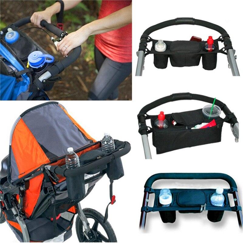 Newbealer Universal Baby Pram Organiser Safe Console Tray Style Pushchair Stroller Storage Cup Bottle Holder Buggy