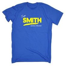 font b Men s b font Team Smith Lifetime Member Funny T Shirt 2018 new
