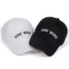 b2450a552f7 High Quality Brand STAY WOKE Letter Snapback Cap 100% Cotton Baseball Cap  For Adult Men