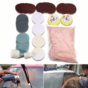 Image 5 - 34 יח\סט אוניברסלי נייד זכוכית ליטוש ערכת רכב שמשות שחיקה חלון מראות כלי עמוק תיקון מסיר סריטות