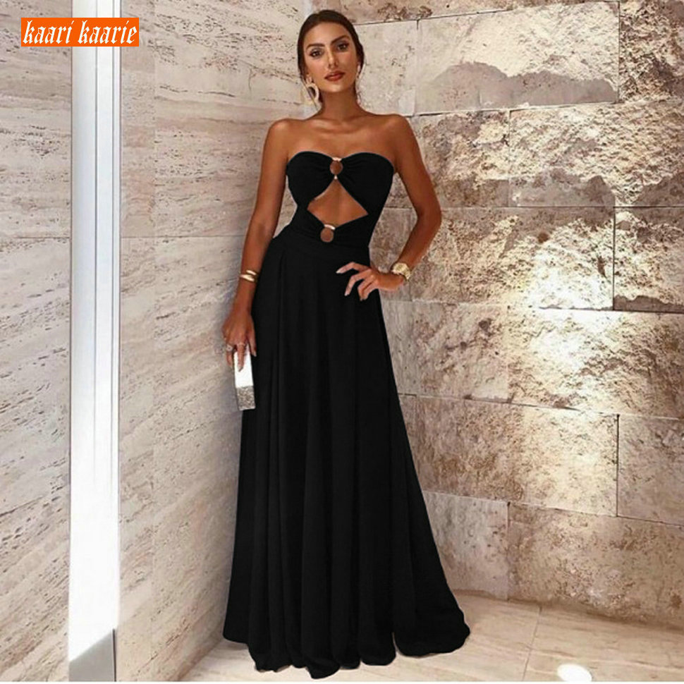 Fashion Black Formal Dresses Long Evening Gowns 2019 Evening Dress Women Party Sweetheart Stretch Fabric Spandex Banquet Finery-in Evening Dresses from Weddings & Events    1