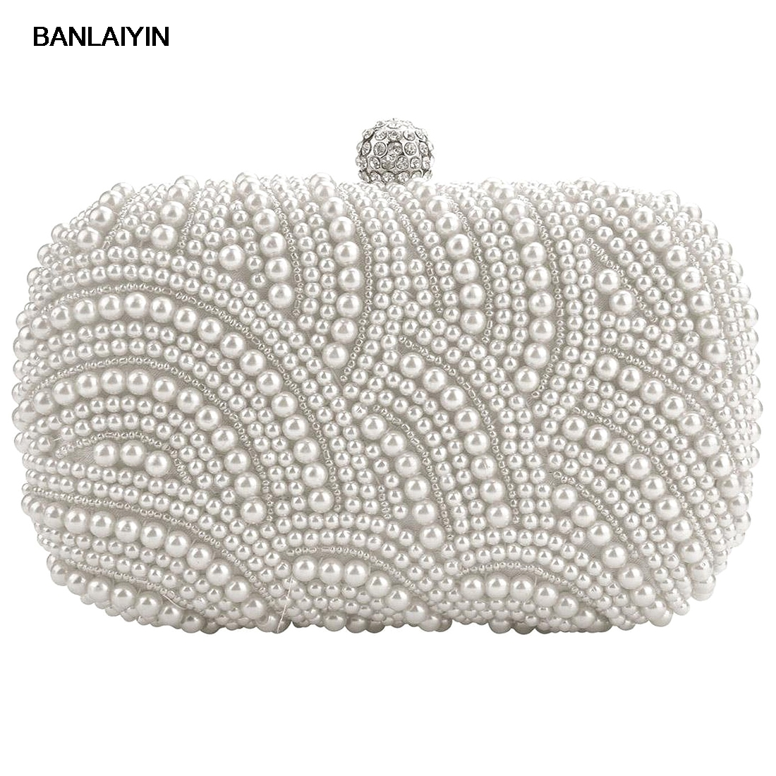 WholeTide10pcs*Fashion Clutch Bag Beaded Party Bridal Handbag Wedding Evening Purse luxury crystal clutch handbag women evening bag wedding party purses banquet