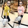 Хеджирование Узор букв cuteHoodies ребенок кофты конфеты цвета стильный толстовки Девушки sudaderas марка повседневная толстовка