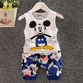 BibiCola 2017 New Cartoon Summer Baby Boy Clothing Set Tank Top + Shorts Kid Boy Summer Set Children Boy Clothes Set Sleeveless