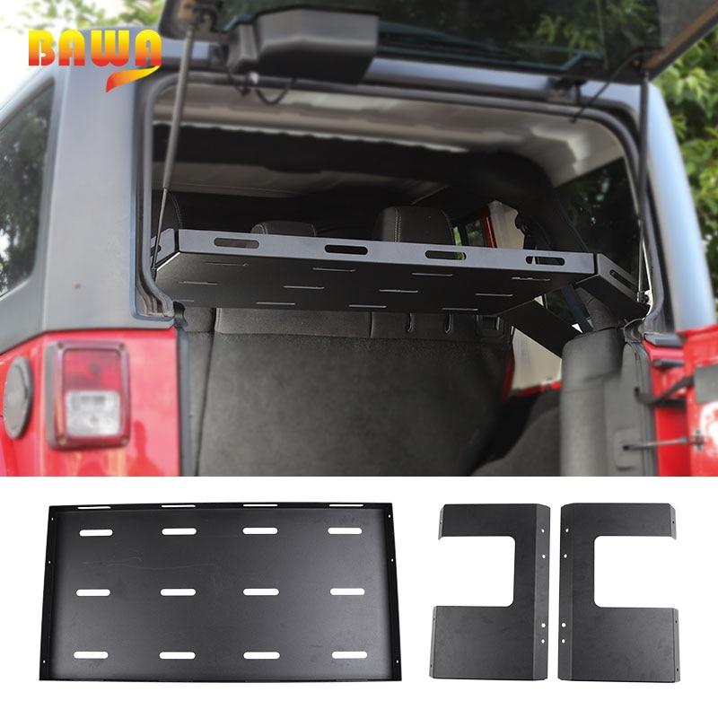 BAWA voiture hayon coffre support de rangement pour Jeep Wrangler jk 2007 + arrière supports bagages voiture accessoires pour Jeep Wrangler jl 2018