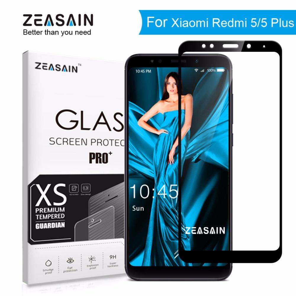 Original ZEASAIN 9H 2.5D Full Cover Tempered Glass for Xiaomi Redmi 5 Plus Xiomi Redmi 5 Redmi5 Plus Screen Protector Glass Film