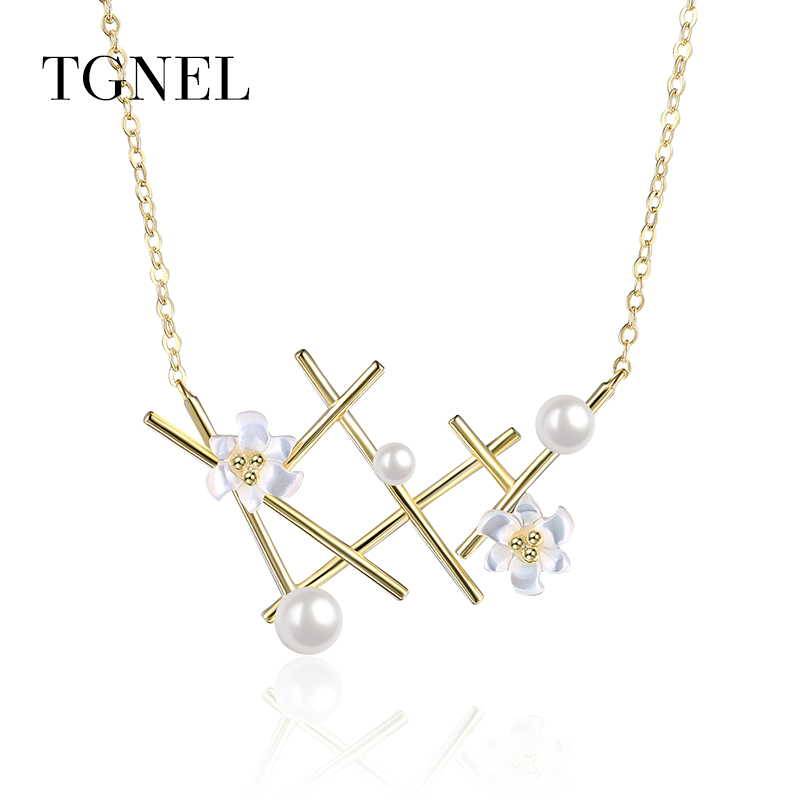 TGNEL S925 ստերլինգ արծաթյա վզնոց - Նուրբ զարդեր - Լուսանկար 1