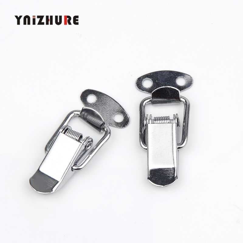 YNIZHURE Hardware Cabinet Boxes Spring Loaded Latch Catch Toggle Hasp 43*21mm Mild Steel Hasp For Sliding Door Simple Window