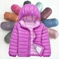 Мальчики Куртки зимнее пальто утка вниз Дети верхняя одежда зимний стиль мальчиков и девочек теплый мультфильм одежды пальто для 4-9 лет