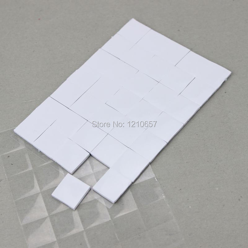 300Pieces White 15 X 15 X 2mm Thermally Conductive PC VGA Chipset  Heatsink Radiator Silicone Thermal Pad